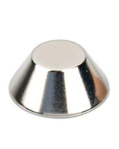 Konusmagnet Ø 20,0/15,0 x 8,0 mm – Neodym N40, Nickel - Haftkraft 8 kg