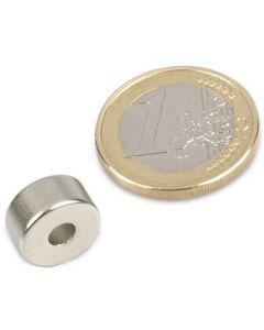 Ringmagnet Magnetring Ø 12/4 x 6 mm Neodym N50, Nickel - Haftkraft 3,2 kg