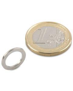 Ringmagnet Magnetring Ø 13/9 x 1 mm Neodym N50, Nickel - Haftkraft 550g