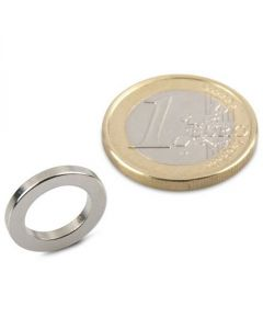 Ringmagnet Magnetring Ø 15/10 x 2 mm Neodym N40, Nickel - Haftkraft 800g