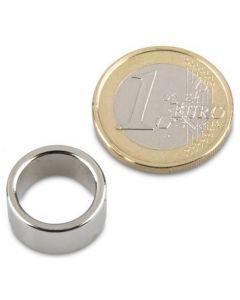 Ringmagnet Magnetring Ø 16/12,5 x 8 mm Neodym N42, Nickel - Haftkraft 950g