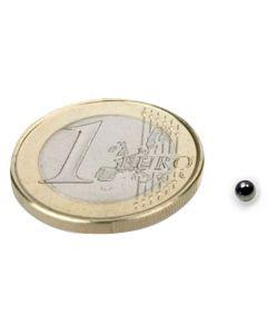 Magnetkugel / Kugelmagnet Ø  3 mm Neodym N40, Nickel - Haftkraft 130g