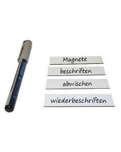 Magnetschilder beschreibbar 2 x 8cm, weiß - Magnetstreifen / Magnetetiketten