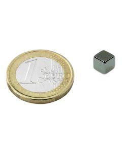 Magnetwürfel Würfelmagnet  7 x 7 x 7mm Neodym N42, Nickel – hält 3,0kg