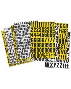Magnetbuchstaben, Regalbeschriftung magnetisch, 43mm hoch - inkl. Sonderzeichen