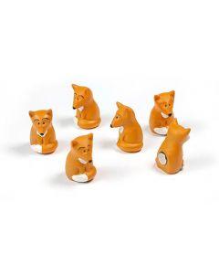 6 x Kühlschrankmagnete Fuchs 24x15x15mm Magnete für Pinnwand Magnettafel Kinder