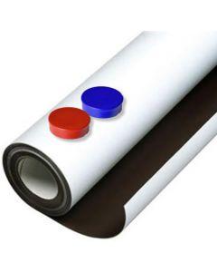 Eisenfolie Ferrofolie selbstklebend weiß matt 0,6mm x 1m x 20m – Rolle