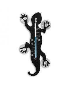 Innen- und Außenthermometer Lizard Eidechse schwarz 13,7 x 6,3 cm