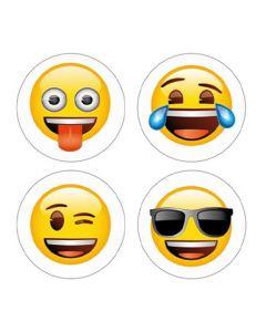 4 x Kühlschrankmagnete Emoji Ø 25mm Magnete für Pinnwand Magnettafel