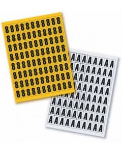 Magnetbuchstaben 23mm hoch, Lagerkennzeichnung im A5 Set - Einzelbuchstaben