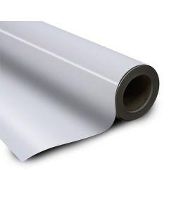 Eisenfolie Ferrofolie selbstklebend weiß glänzend 0,6mm x 100cm x 20m – Rolle