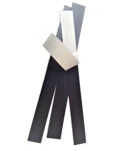 10 x Magnetfolien Magnetstreifen selbstklebend 1,5mm - 2 x 20cm - Magnetschilder