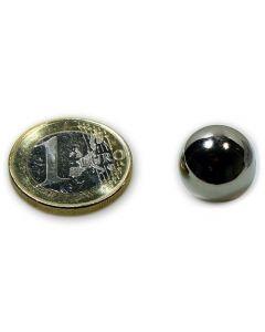 Magnetkugel / Kugelmagnet Ø 15 mm Neodym N40 (NdFeB) Nickel - Haftkraft 3,2 kg