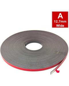 Magnetband Magnetstreifen selbstklebend, Schaumstoff-Kleber 12,7mm x 30m Typ A