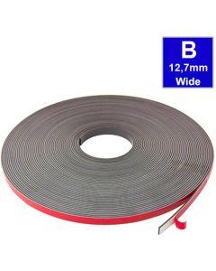 Magnetband Magnetstreifen selbstklebend, Schaumstoff-Kleber 12,7mm x 30m Typ B