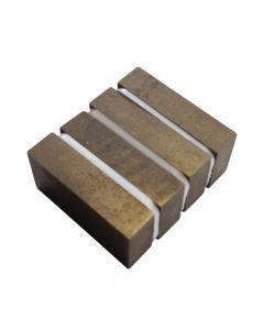 Quadermagnet Magnetquader  50 x 30 x 10mm SmCo (Samarium-Cobalt Magnet) - 300°C