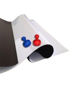 Eisenfolie Ferrofolie weiß glänzend 0,6mm x 1m x 1m – Meterware