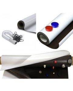 Eisenfolie Ferrofolie Selbstklebend - roh braun, weiß matt/glänzend - Haftgrund