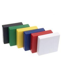 Pinnwandmagnete 35 x 35 x 9 mm Ferrit – hält 1,0 kg - 10 Farben