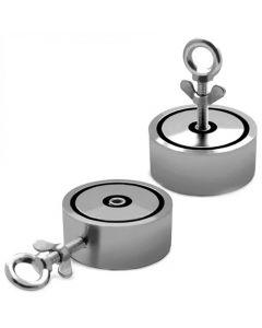 Angeln Bergemagnet Neodym-Magnet (NdFeB) bis 1200Kg 2-fach - 2 Bohrungen