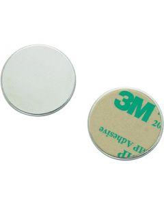Metallscheiben verzinkt, aus DC01 Ø 10mm x 2mm mit Doppelklebeband