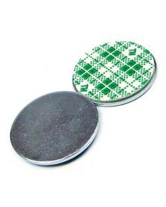 Metallscheiben selbstklebend verzinkt, aus DC01 Ø 10mm x 2mm mit Doppelklebeband
