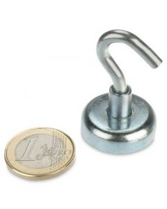 50 St. Magnethaken Ø 25 mm Neodym, Zink - Hält 22 kg VPE: 50 Stück je Karton Hakenmagnet inklusive Transportkosten (12,90 €/Karton) Hornbach Artikel-Nr. 9528173