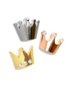 3 x Kühlschrankmagnet CROWN 39 x 32 x 5mm aus Metall - Magnet für Pinnwand