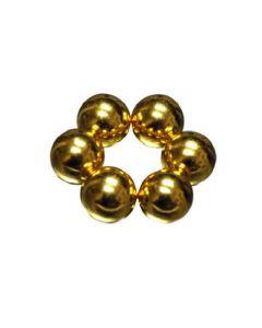 Stahlkugel Ø 10 mm Gold - zur Kombination mit Neodymmagneten - KEIN MAGNET