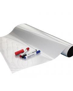Whiteboardfolie Eisenfolie beschreibbar - selbstklebend - weiß 0,6mm x 1m x 15m
