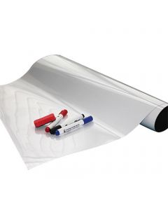 Whiteboardfolie Eisenfolie beschreibbar - selbstklebend - weiß 0,6mm x 1m x 1m
