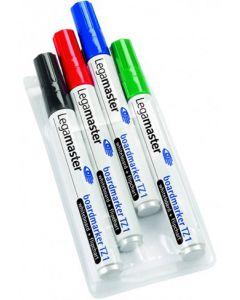 Whiteboard-Marker Etui mit 4 Stück farblich sortiert - schwarz, rot, blau, grün