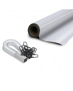 Eisenfolie Ferrofolie selbstklebend weiß glänzend 0,6mm x  31cm x 100cm