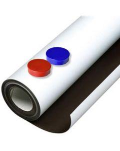 Eisenfolie Ferrofolie selbstklebend weiß matt 0,8mm x 50cm x 100cm