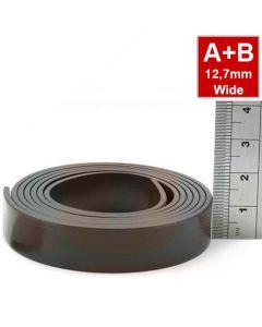 Magnetband Magnetstreifen selbstklebend 1,5mm x 12,7mm x  2m, Typ A + B