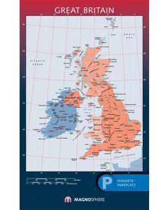 England Karte, SK magnethaftend laminiert, 10 Kegelmagnete weiss 62 cm x 100 cm