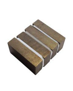 Quadermagnet 50 x 30 x 10 SmCo unbeschichtet - max. Temp. 350°C