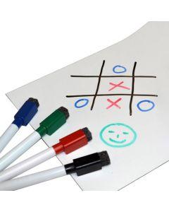 Magnetfolie Whiteboardfolie magnetisch weiß beschreibbar DIN A Formate (A1-A4)
