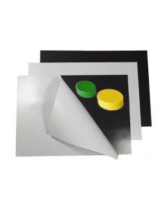 Eisenfolie Ferrofolie selbstklebend weiß matt DIN A Formate (A1-A4) - 0,6mm dick