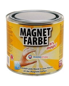 Magnetfarbe - Magnetische wandfarbe - 0,5 Liter - für eine Fläche von 1,5 - 5m²