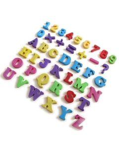 Magnetisches Alphabet - Magnetbuchstaben - Kleinbuchstaben 3,7cm hoch, 70 Teile