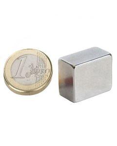 Quadermagnet Magnet-Quader  18 x  15 x 10mm Neodym N45H, Nickel - hält 12 kg