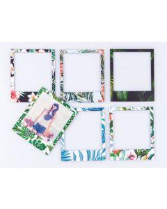 6 x Magnetrahmen / Magnetische Bilderrahmen Fotorahmen Tropical farbig - 6er-Set